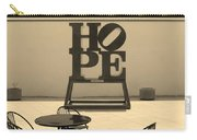 Hope And Chairs In Sepia Carry-all Pouch
