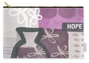 Hope- Contemporary Art Carry-all Pouch by Linda Woods