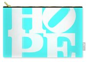 Hope Inverted Aquamarine Carry-all Pouch