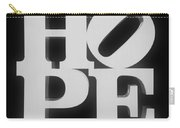Hope Inverted Black Carry-all Pouch