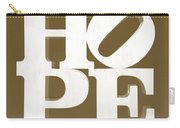 Hope Inverted Brown Carry-all Pouch