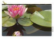 Horizontal Lily And Bud Carry-all Pouch