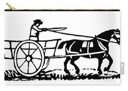 Horse & Cart, 19th Century Carry-all Pouch