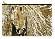 Horse Abstract Neutral Carry-all Pouch