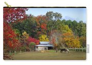 Horse And Barn In The Fall 3 Carry-all Pouch