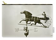 Horse And Buggy Weathervane In Sepia Carry-all Pouch by Ben and Raisa Gertsberg