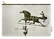 Horse And Buggy Weathervane In Sepia Carry-all Pouch