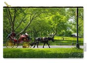Horse And Carriage Central Park Carry-all Pouch