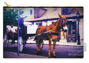 Horse And Carriage In Front Of Lafitte's Blacksmith Shop  Carry-all Pouch