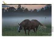 Horse And Fog Carry-all Pouch
