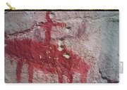 Horse And Rider Cave Painting Carry-all Pouch