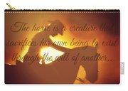 Horse And Rider Silhouette  Carry-all Pouch
