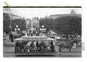 Horse And Trolley Main Street Disneyland Bw Carry-all Pouch