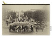 Horse And Trolley Main Street Disneyland Heirloom Carry-all Pouch