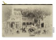 Horse And Trolley Turning Main Street Disneyland Heirloom Carry-all Pouch