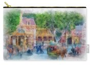 Horse And Trolley Turning Main Street Disneyland Photo Art 01 Carry-all Pouch