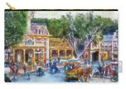 Horse And Trolley Turning Main Street Disneyland Photo Art 02 Carry-all Pouch