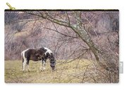 Horse And Winter Berries Carry-all Pouch