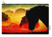 Horse At Sunrise Carry-all Pouch