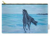 Horse At The Sea Carry-all Pouch
