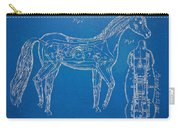 Horse Automatic Toy Patent Artwork 1867 Carry-all Pouch by Nikki Marie Smith