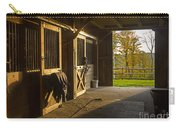 Horse Barn Sunset Carry-all Pouch by Edward Fielding