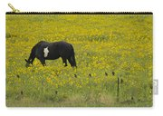 Horse  Birds  And Flowers   #8520 Carry-all Pouch