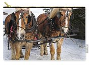 Horse Drawn Sleigh Carry-all Pouch by Edward Fielding
