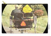 Horse Drawn Vechicles Round Carry-all Pouch