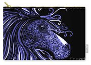 Horse Head Blues Carry-all Pouch
