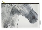 Horse Head Drawing Carry-all Pouch