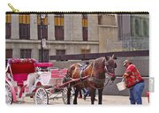 Horse Needs Water In Old Montreal-quebec-canada Carry-all Pouch