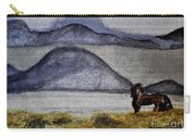 Horse Of The Mountains With Stained Glass Effect Carry-all Pouch