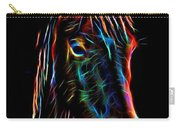 Horse On Black Carry-all Pouch