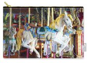 Horse On Carousel Carry-all Pouch