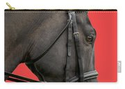Horse On Red Carry-all Pouch