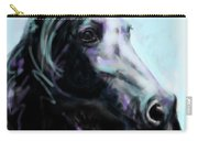 Horse Painted Black Carry-all Pouch