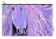 Horse Pale Purple 2 Carry-all Pouch