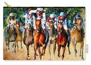 Horse Race - Palette Knife Oil Painting On Canvas By Leonid Afremov Carry-all Pouch