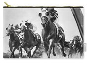 Horse Racing At Belmont Park Carry-all Pouch by Underwood Archives
