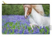 Horse Running By Lupines. Purebred Carry-all Pouch