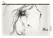 Horse Sketch 2014 05 24a Carry-all Pouch