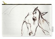 Horse Sketch Carry-all Pouch