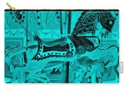 Turquoise Horse E Carry-all Pouch