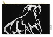 Horse White Runner Carry-all Pouch