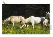 Horses Among Wildflowers Carry-all Pouch