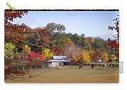 Horses And Barn In The Fall 2 Carry-all Pouch