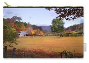 Horses And Barn In The Fall 4 Carry-all Pouch