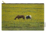 Horses And Wildflowers   #8511 Carry-all Pouch
