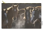 Horses At Round Up Ecuador Carry-all Pouch